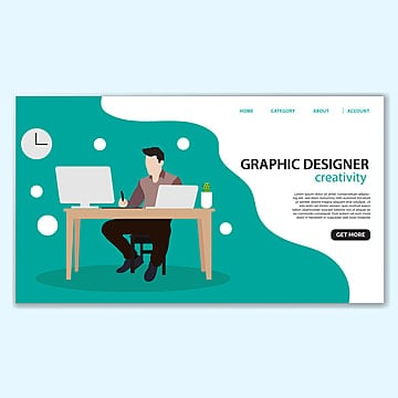 graphic designer landing page template Template