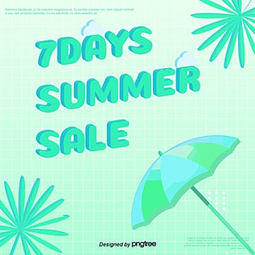 green gradual fresh summer promotion social media template Template