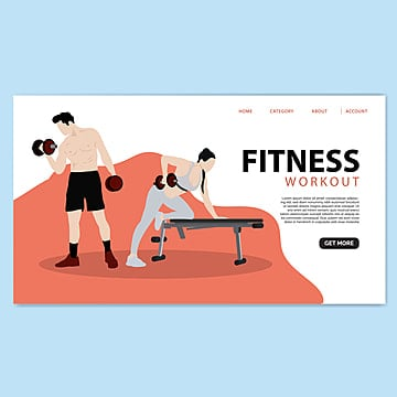 gym fitness landing page template Template