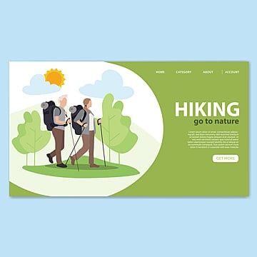 hiking landing page template Template
