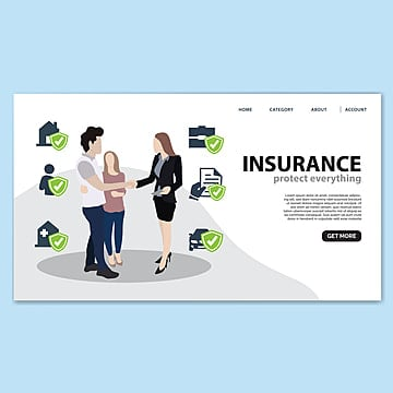 insurance landing page template Template