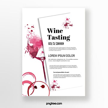 Wine glass wine splash effect invitation Template