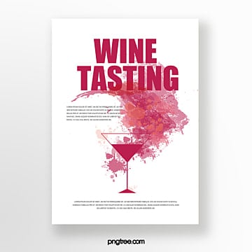 Wine stains wine event invitation Template