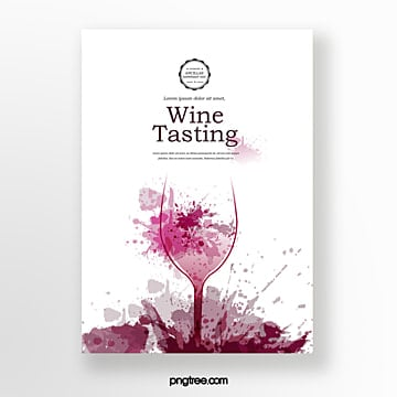 Splashing wine badge tasting event invitation Template