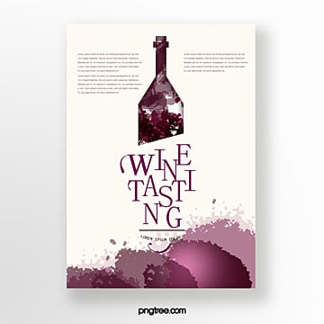 wine bottle tasting event invitation Template