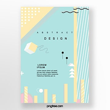 irregular geometry fashion poster Template