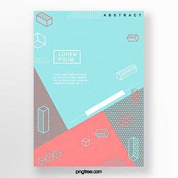 irregular point geometry poster Template
