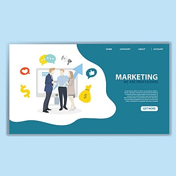 marketing landing page template Template