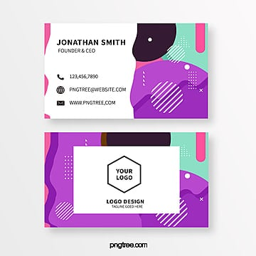 mini stereo memphis style business card template Template