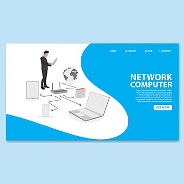 network computing landing page template Template