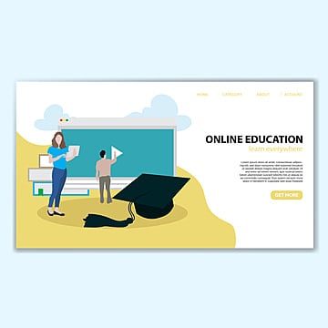 online education landing page template Template