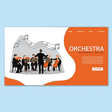orchestra landing page template Template