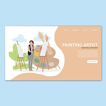painting artist landing page template Template