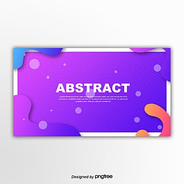 purple fluid gradual creative geometric border decoration banner Template