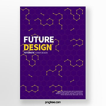 purple futurist geometric picture abstract cover poster Template