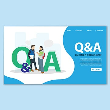 question and answer landing page template Template