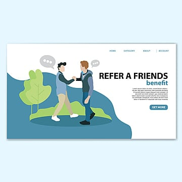 refer a friend landing page template Template