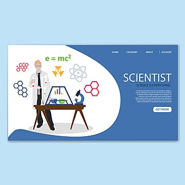 science landing page template Template