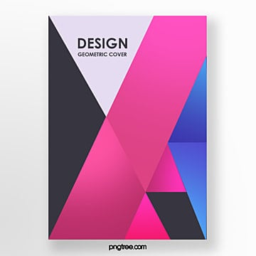seamless bright color block geometric trend fashion poster Template