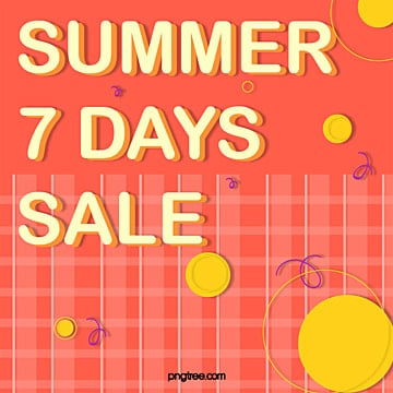 seven day promotion in summer Template