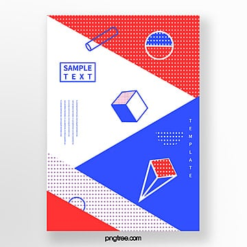 simple color fashion geometry dot poster Template