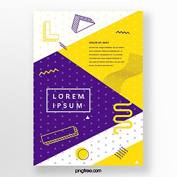 simple geometric point poster Template
