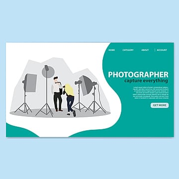 studio photography landing page template Template