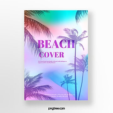 Summer Fresh Tropical Plants Poster Template