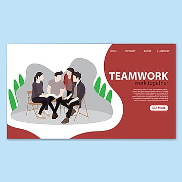 teamwork landing page template Template