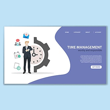 time management landing page template Template