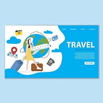 travel landing page template Template