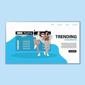 trending landing page template Template