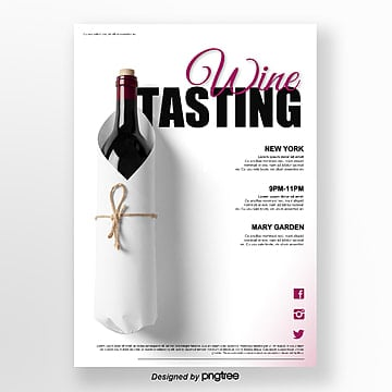 White Photographic Wine Tasting Activity Poster Template