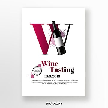 Wine stain bottle wine tasting event invitation Template