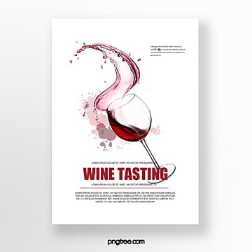 Wine glass wine tasting event invitation Template