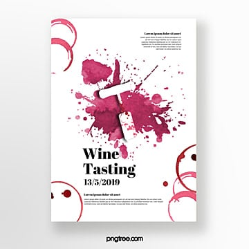 Wine bottler tasting event invitation Template