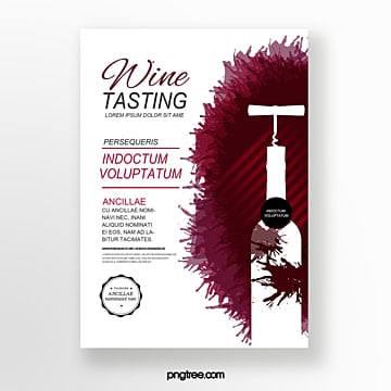 Wine stains bottle wine tasting event invitation Template