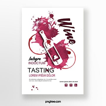wine red wine stain bottle invitation Template