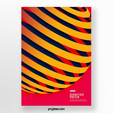 yellow gradient stereo geometry trend poster Template