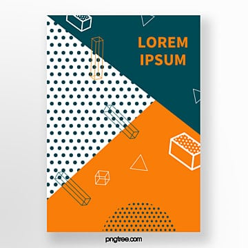 yellow memphis geometry point fashion poster Template