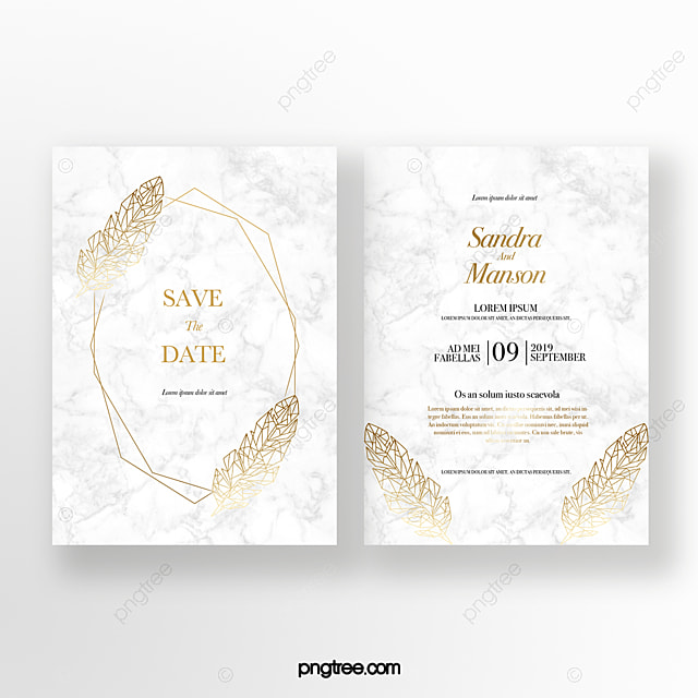 Golden Texture Wedding Invitation Template for Free