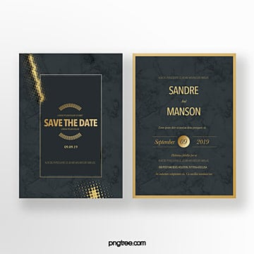 black gold shade wedding invitation Template