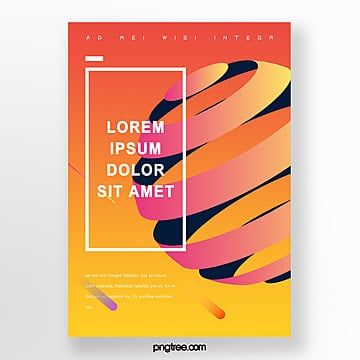 geometric trend poster Template