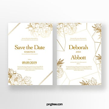 golden flower shading body invitation Template