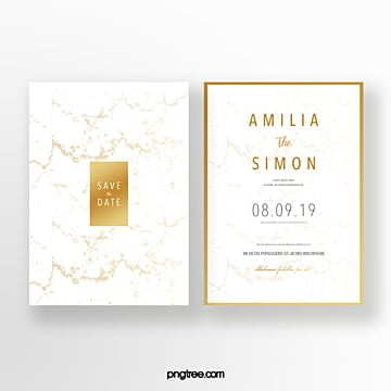 golden marble shading wedding invitation Template