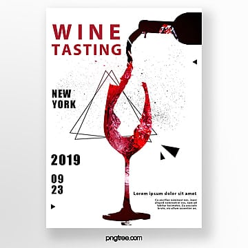 invitation letter for creative red wine tasting Template