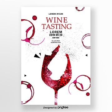 invitation letter for red creative wine tasting Template