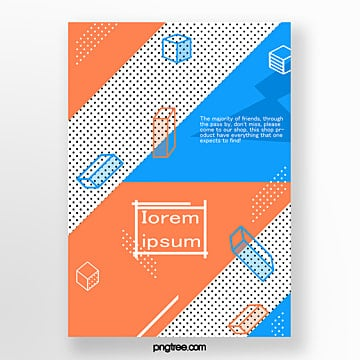 orange fashion geometry point poster Template