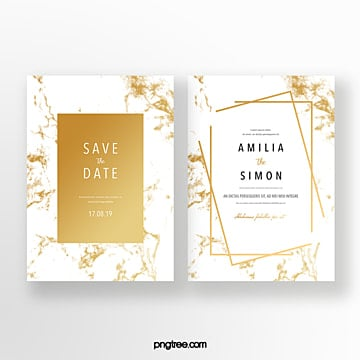 golden geometric marble texture invitation Template