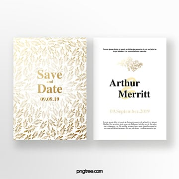 luxury  irregular shading wedding invitation Template